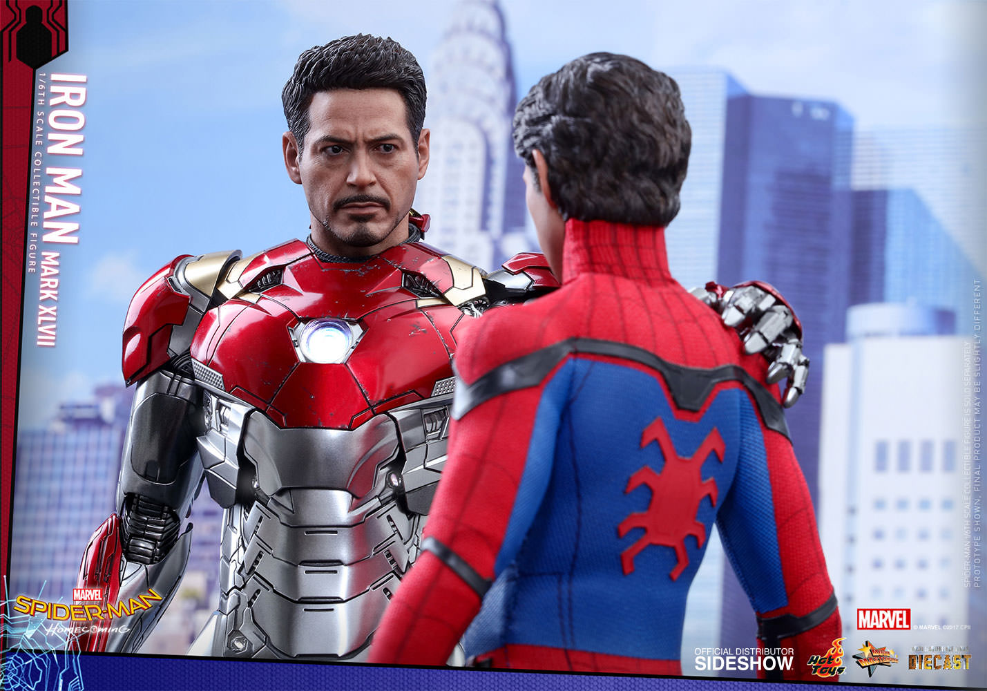 SPIDERMAN HOME COMING - IRON MAN  Mark XLVII (Diecast) Marvel-spider-man-homecoming-iron-man-mark-xlvii-sixth-scale-hot-toys-903079-16