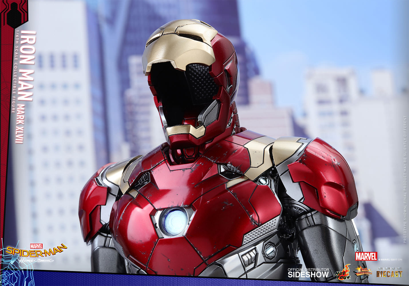 SPIDERMAN HOME COMING - IRON MAN  Mark XLVII (Diecast) Marvel-spider-man-homecoming-iron-man-mark-xlvii-sixth-scale-hot-toys-903079-17