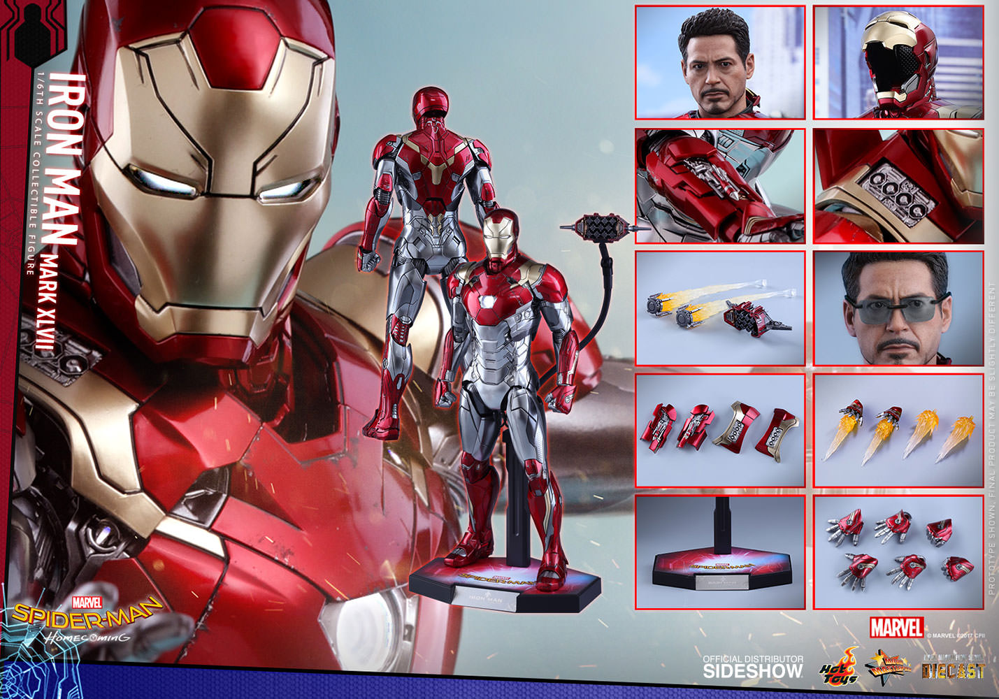 SPIDERMAN HOME COMING - IRON MAN  Mark XLVII (Diecast) Marvel-spider-man-homecoming-iron-man-mark-xlvii-sixth-scale-hot-toys-903079-22