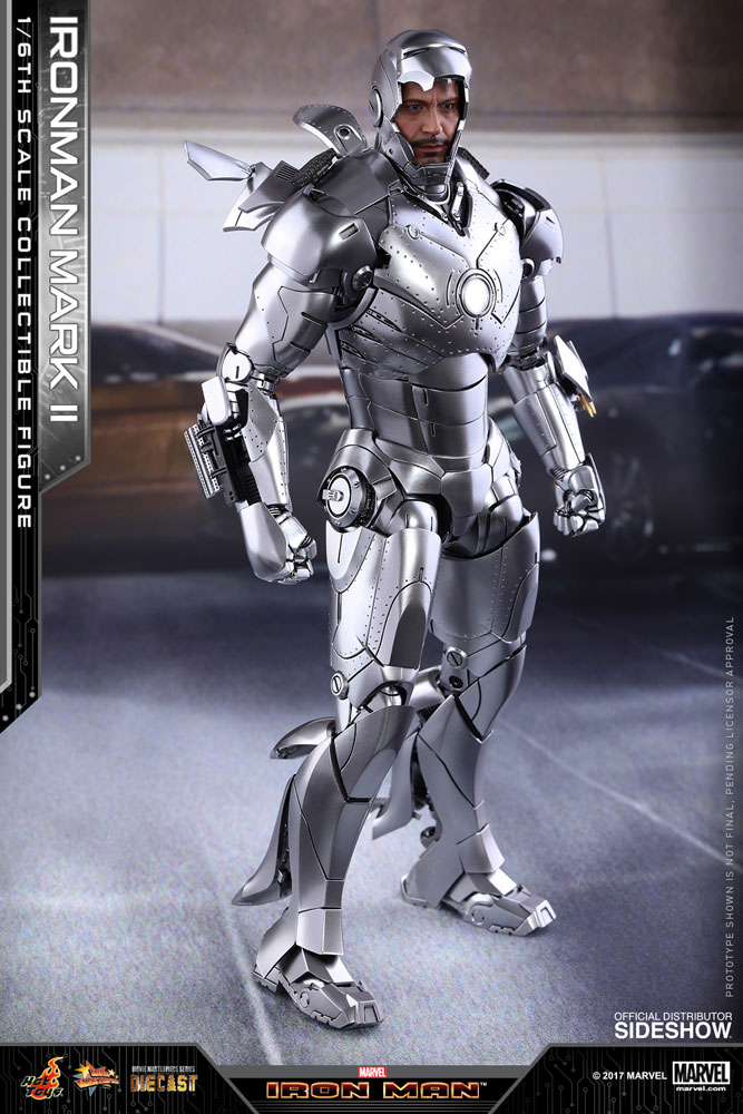 marvel iron man mark ii sixth scale figure by hot toys sideshow collectibles. Black Bedroom Furniture Sets. Home Design Ideas