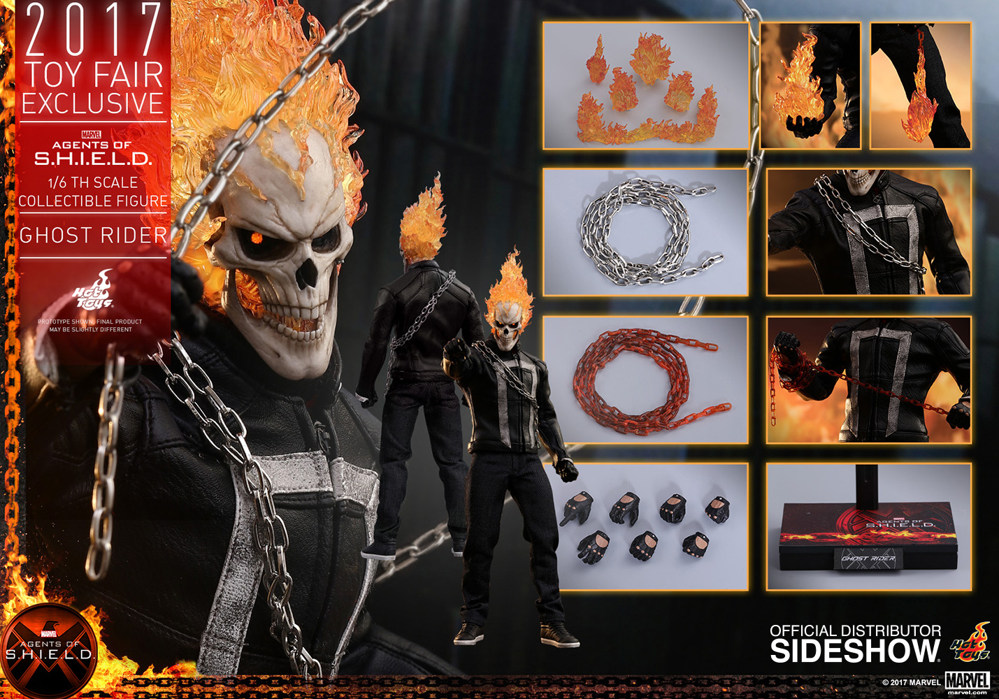 Marvel Ghost Rider Sixth Scale Figure by Hot Toys | Sideshow ...