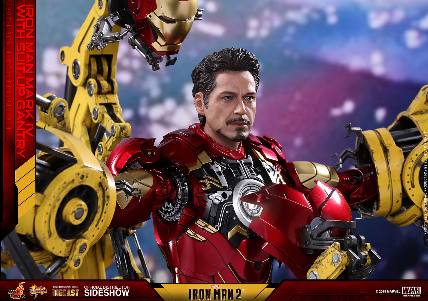 marvel iron man mark iv with suit up gantry collectible set