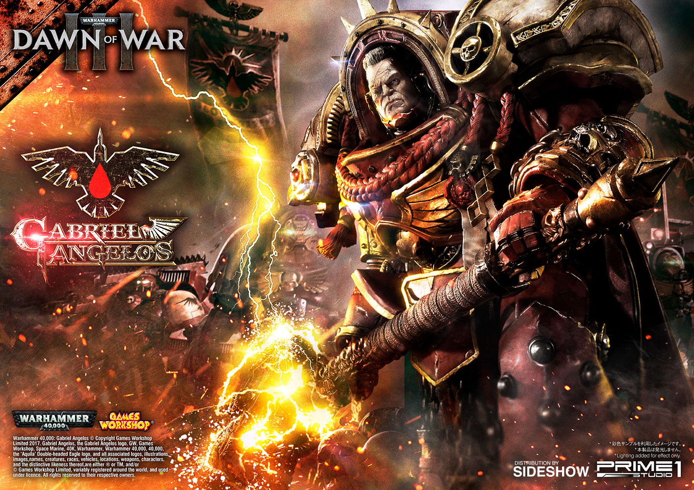 warhammer 40 000 dawn of war iii gabriel angelos statue by