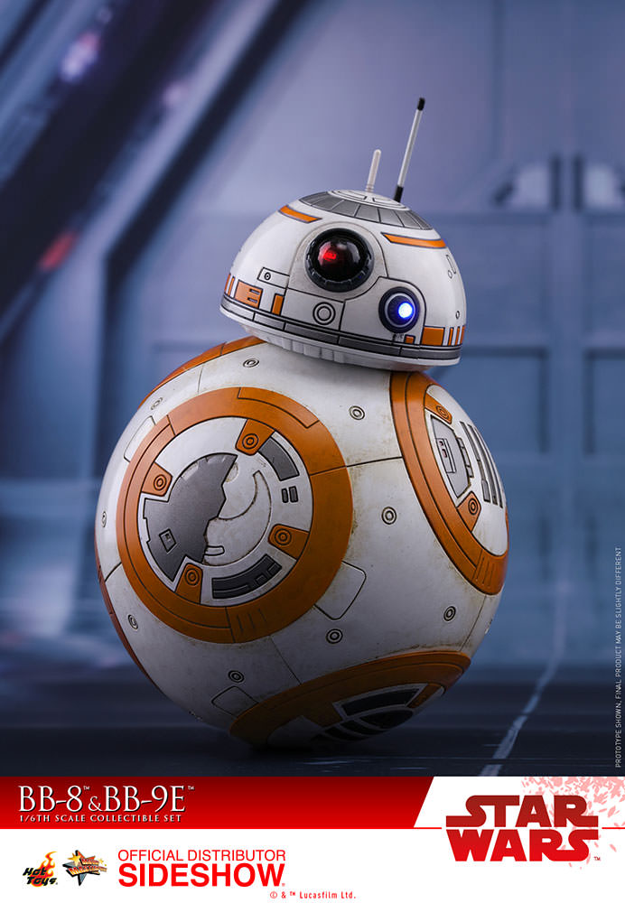 star wars bb 8 and bb 9e sixth scale figure set by hot toys sideshow collectibles. Black Bedroom Furniture Sets. Home Design Ideas