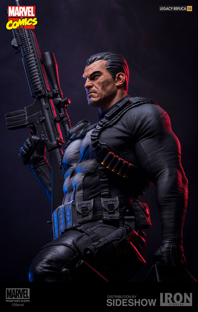 marvel the punisher statue by iron studios sideshow collectibles