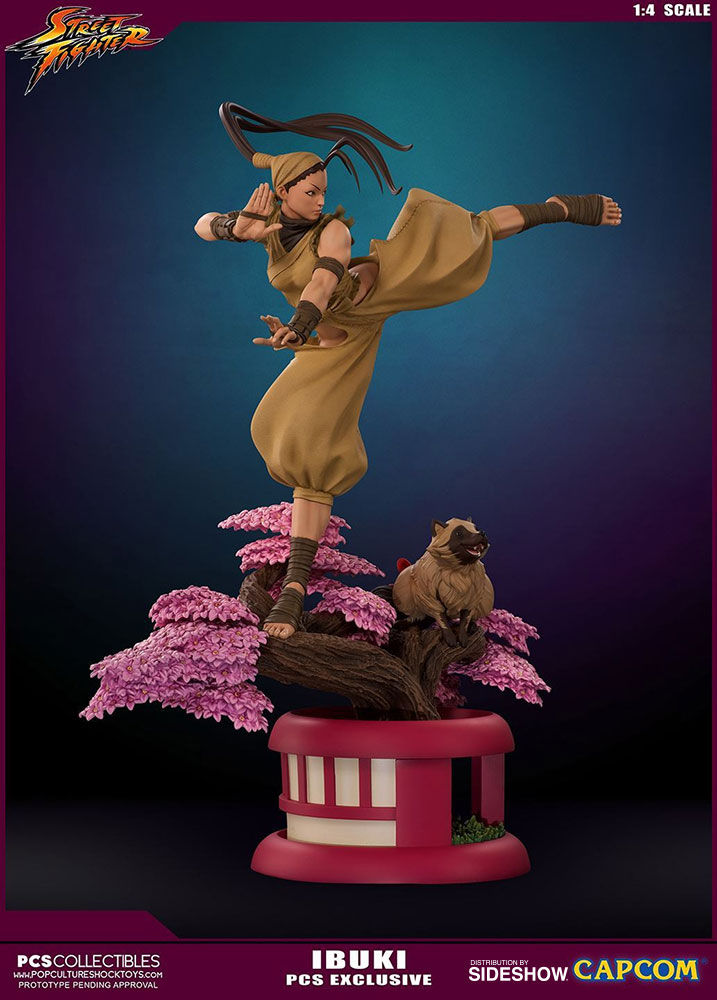 street fighter ibuki statue by pop culture shock sideshow collectibles