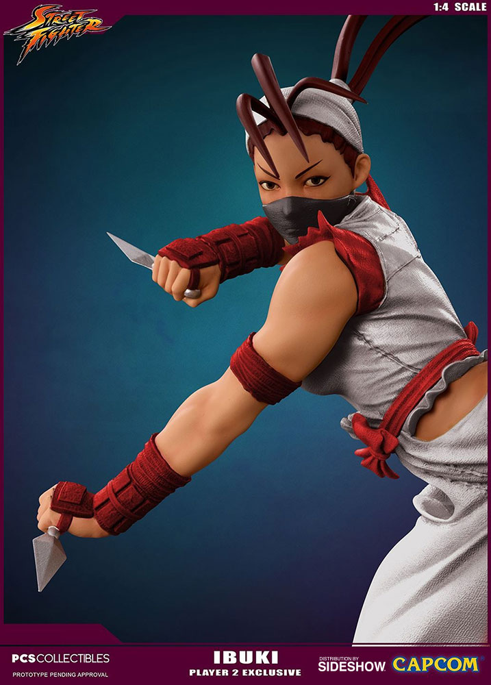 street fighter ibuki player 2 statue by pop culture shock sideshow