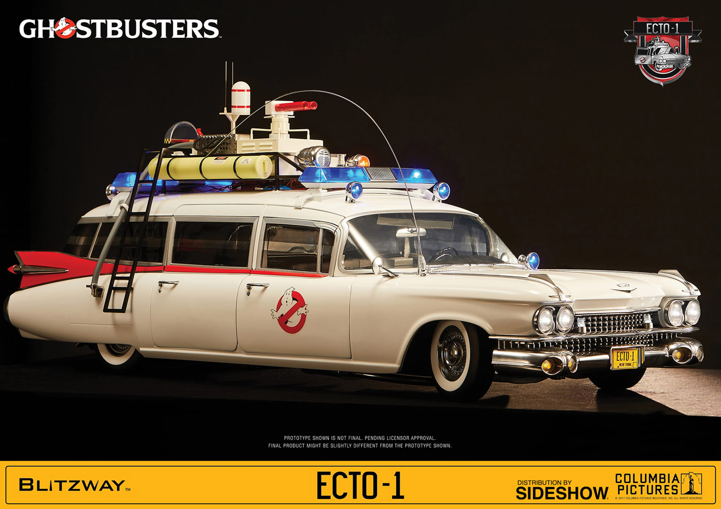 ghostbusters ecto 1 ghostbusters 1984 sixth scale figure. Black Bedroom Furniture Sets. Home Design Ideas