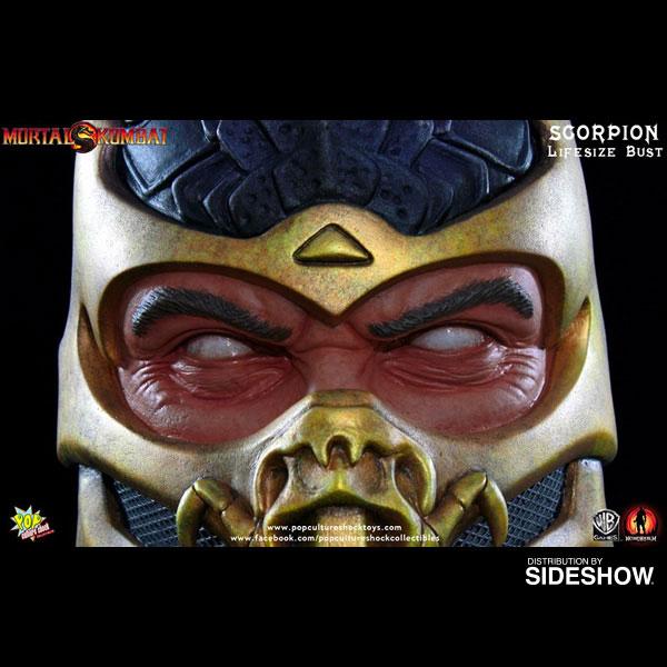Mortal Kombat Scorpion Life-Size Bust By Pop Culture Shock
