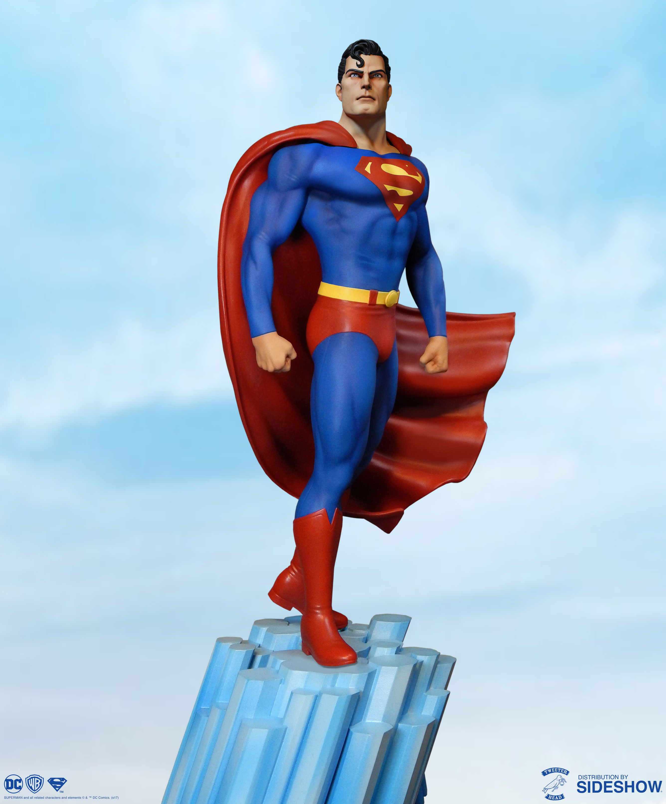 dc comics super powers superman maquette by tweeterhead sideshow