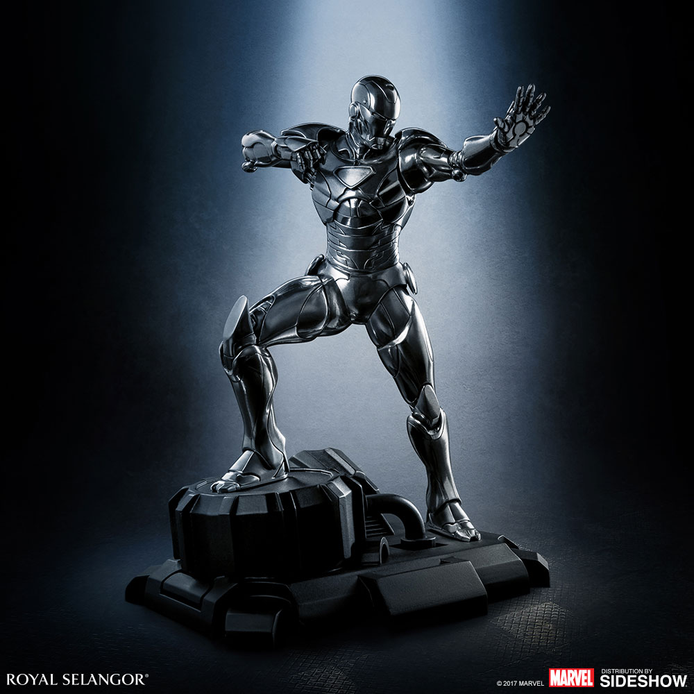 marvel iron man figurine pewter collectible by royal. Black Bedroom Furniture Sets. Home Design Ideas