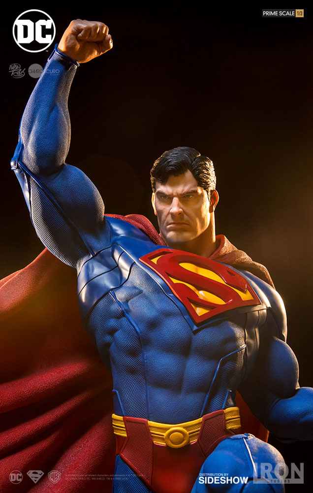 dc comics superman statue by iron studios sideshow collectibles