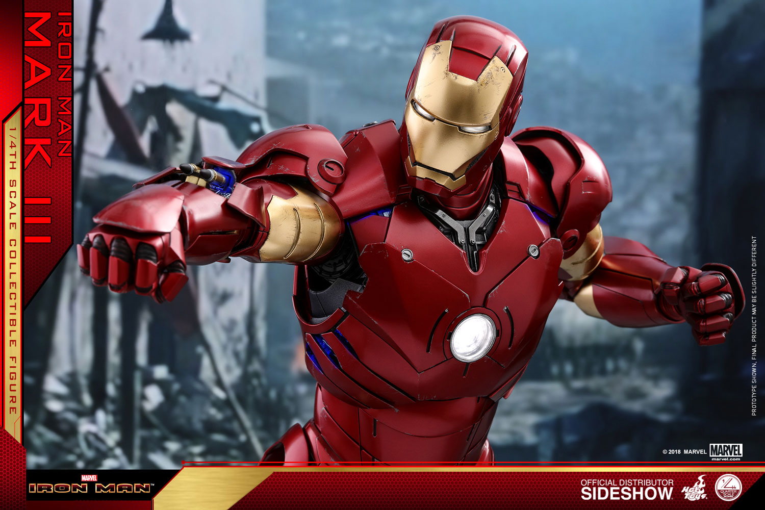 marvel iron man mark iii quarter scale figure by hot toys sideshow collectibles. Black Bedroom Furniture Sets. Home Design Ideas