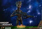 Hot Toys Groot and Rocket Sixth Scale Figure