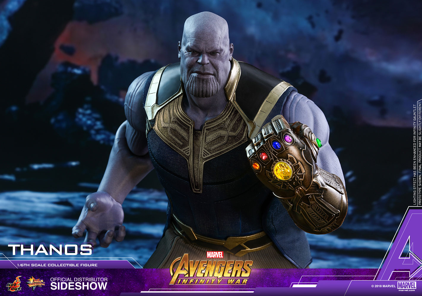 Marvel Thanos Sixth Scale Figure By Hot Toys Sideshow