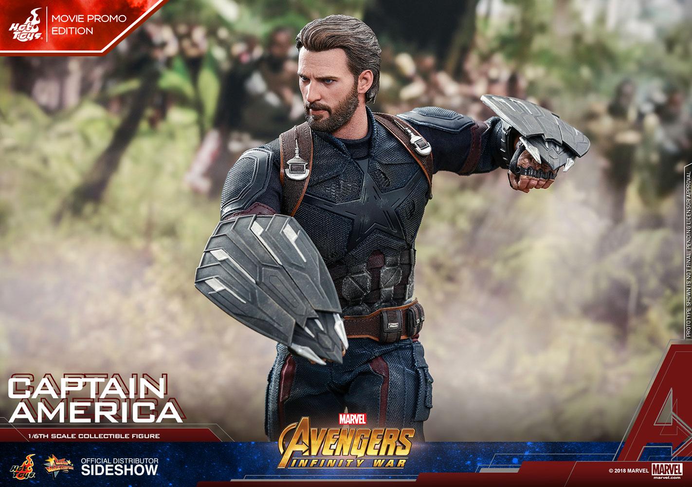 marvel captain america movie promo edition sixth scale figur