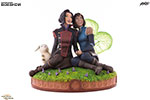 Korra and Asami in the Spirit World Statue
