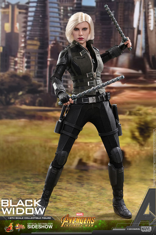 marvel black widow sixth scale figure by hot toys