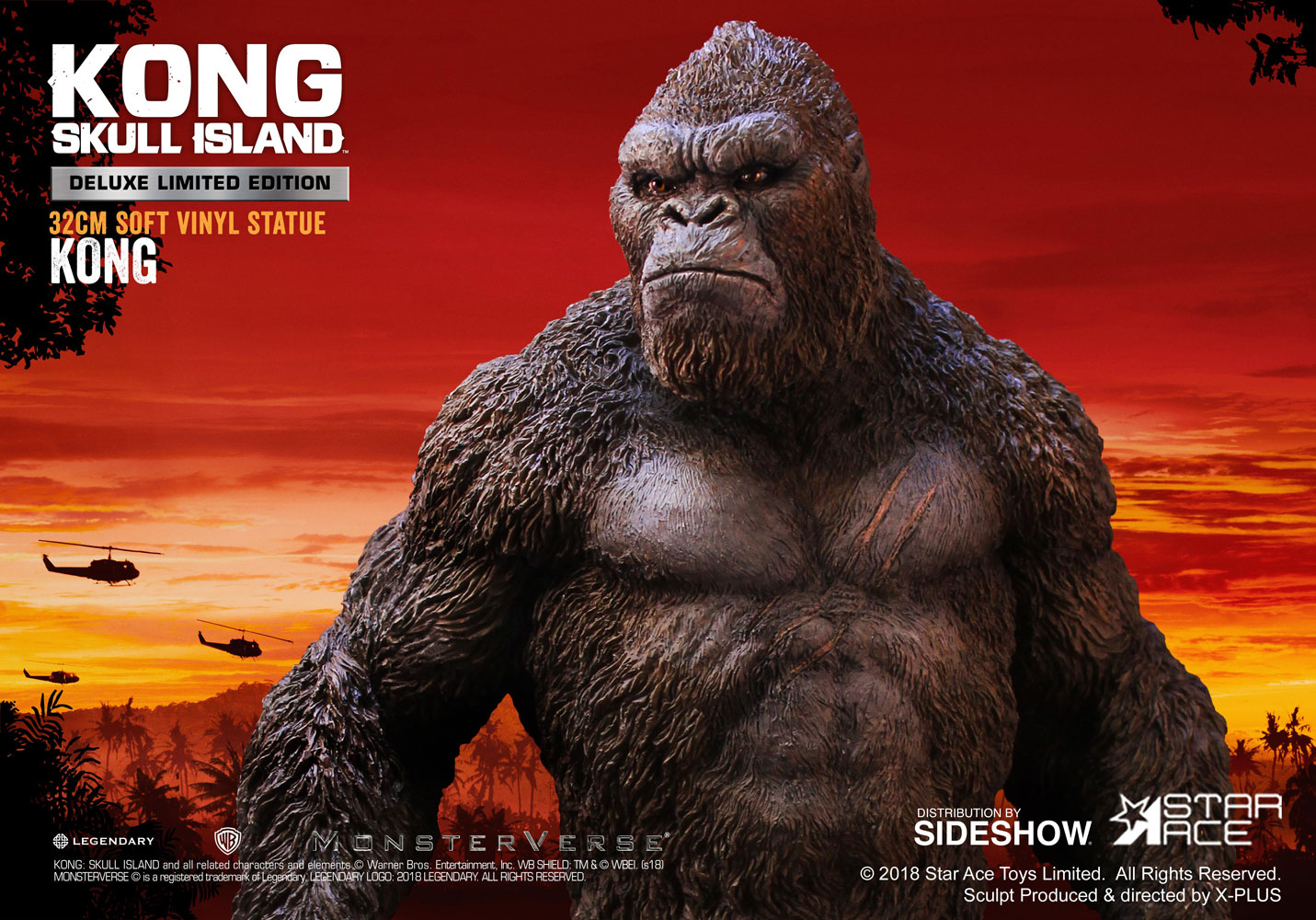 Kong: Skull Island: Kong: Skull Island Kong Deluxe Vinyl Statue By Star Ace