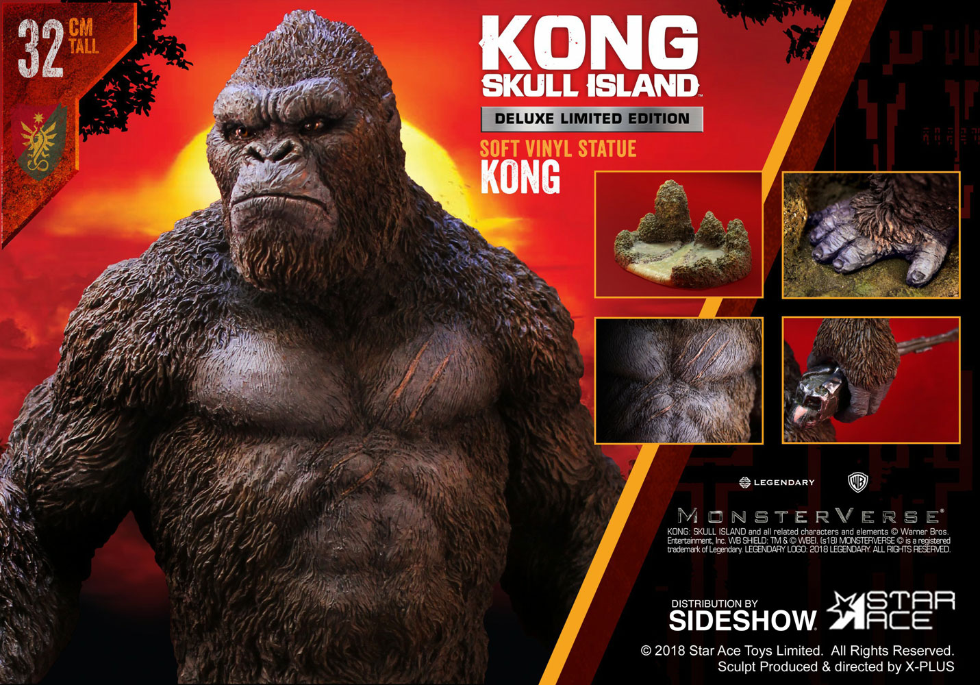 Kong: Skull Island Kong Deluxe Vinyl Statue by Star Ace ...