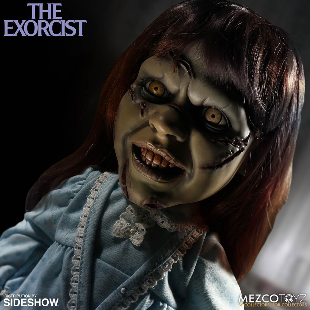 the exorcist mega exorcist with sound collectible figure by