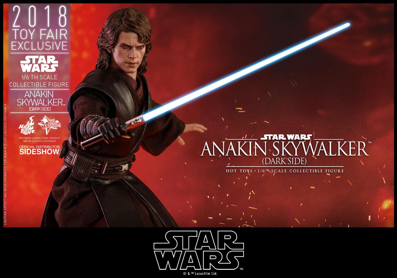 star wars anakin skywalker dark side sixth scale figure by h