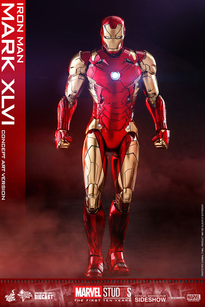 Marvel iron man mark xlvi concept art sixth scale figure sideshow collectibles - Image de iron man ...