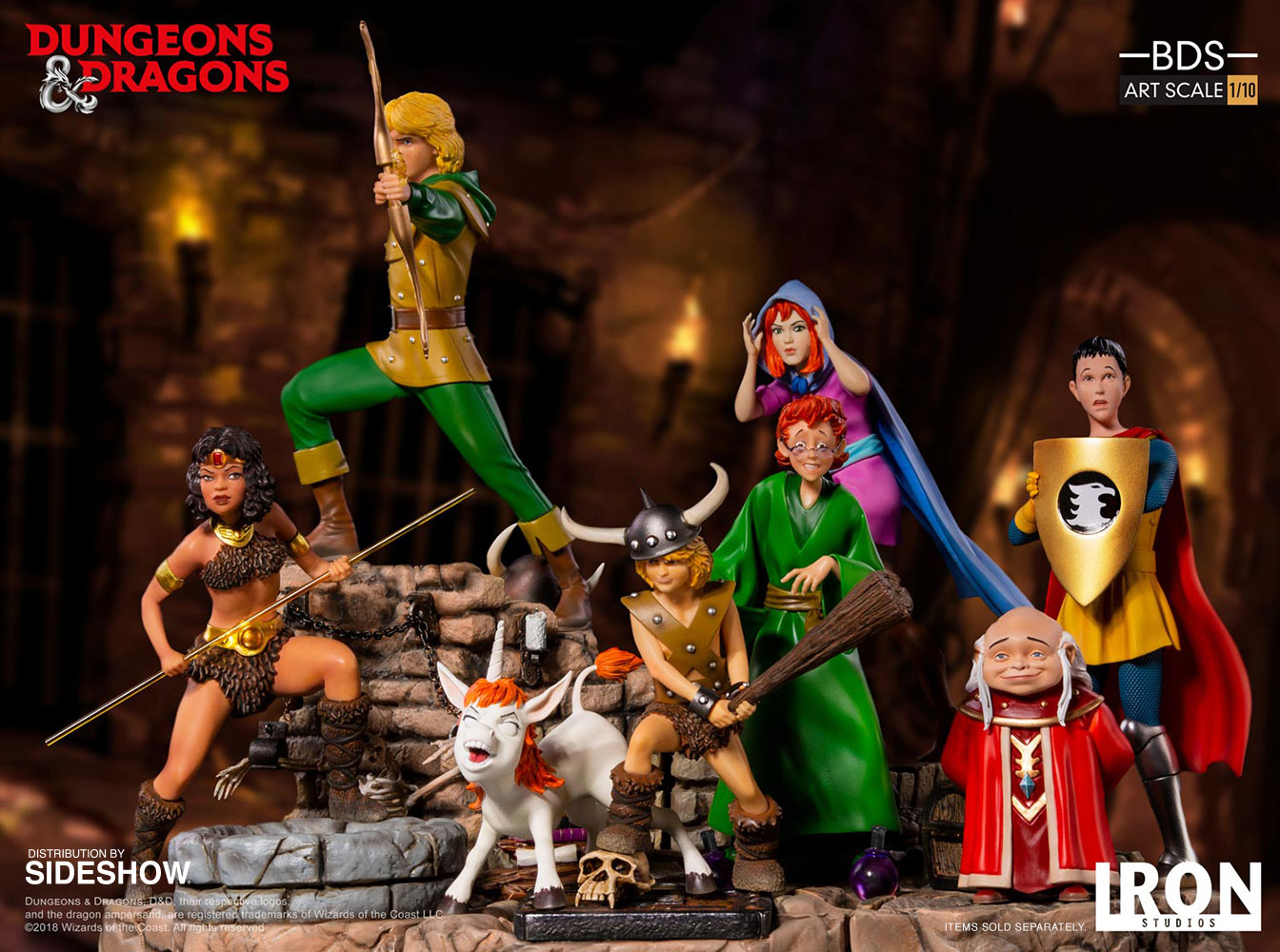 dungeons and dragons dungeon master statue by iron studios