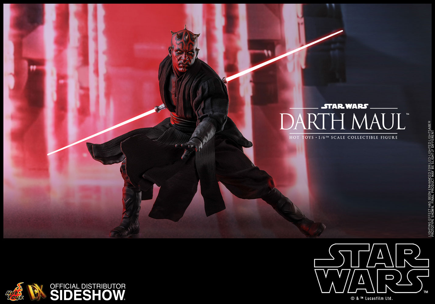 star wars darth maul special edition sixth scale figure by h