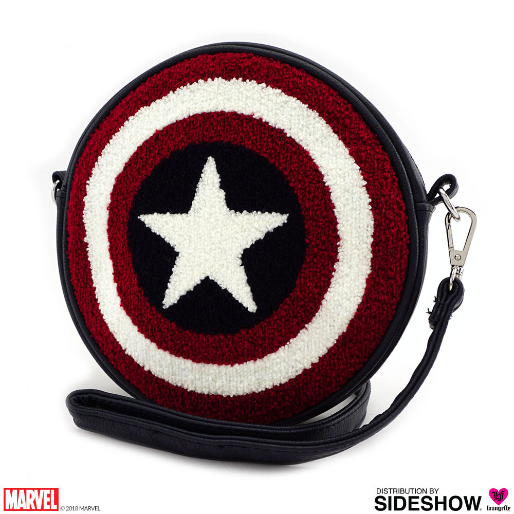 Marvel Captain America Shield Crossbody Bag By Loungefly Sideshow
