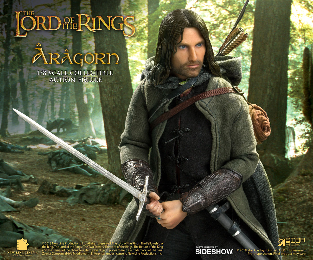 the lord of the rings aragorn deluxe collectible figure sideshow