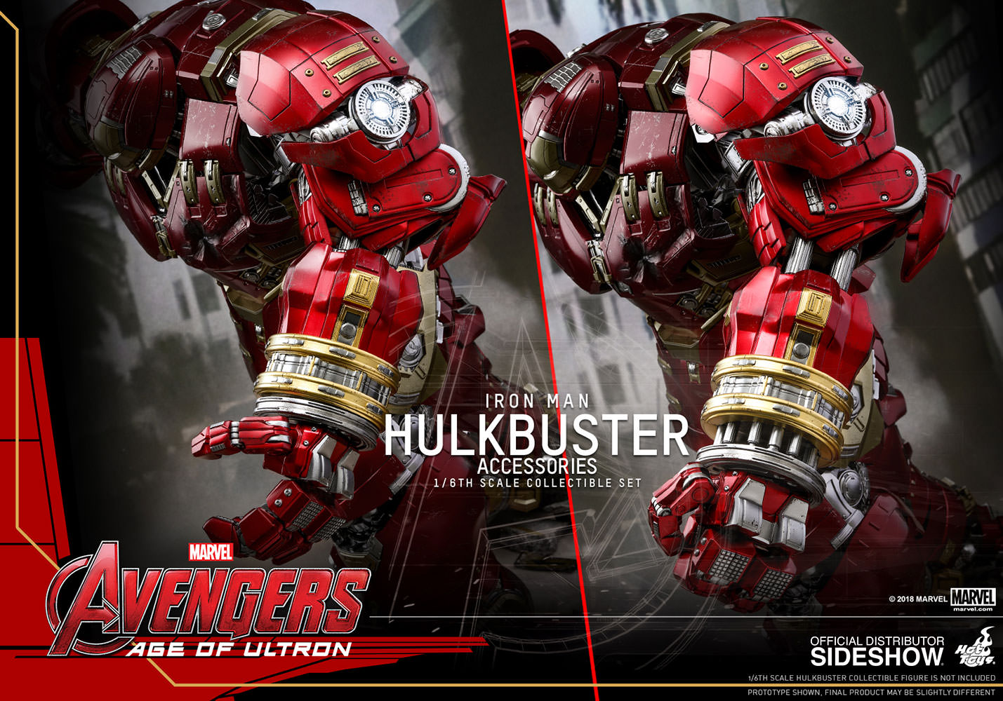 Hulkbuster Accessories Collectible Set Prototype Shown Hot Toys