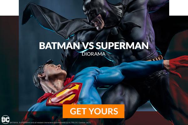 Batman vs Superman Diorama