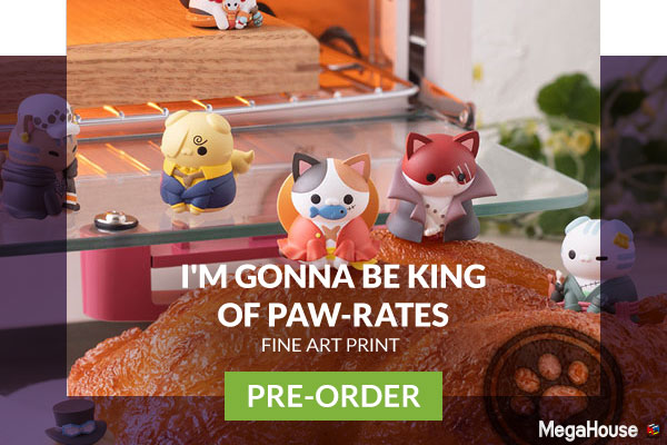 I'm Gonna Be King of Paw-rates Collectible Set by MegaHouse