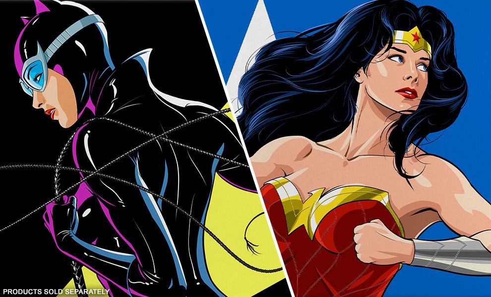 Catwoman & Wonder Woman by Thomas Kinkade Studios & Matt Haley