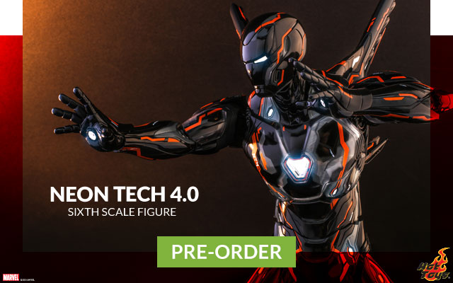 Iron Man Neon Tech 4.0 Sixth Scale Figure by Hot Toys