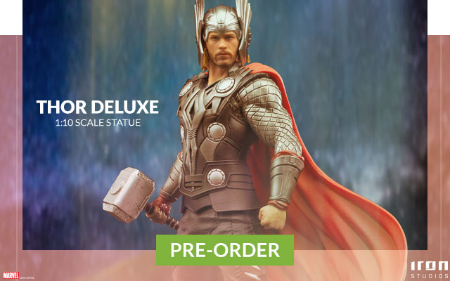 Thor Deluxe Scale Statue by Iron Studios