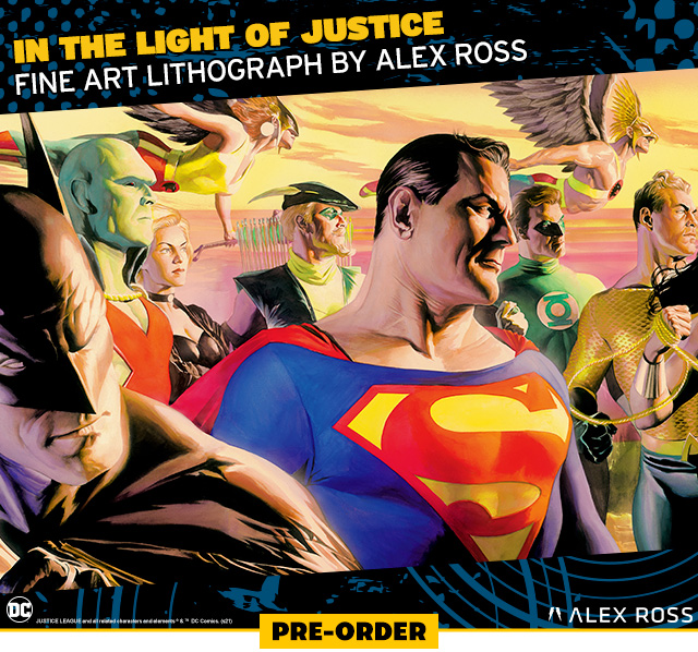 In the Light of Justice Fine Art Lithograph by Alex Ross