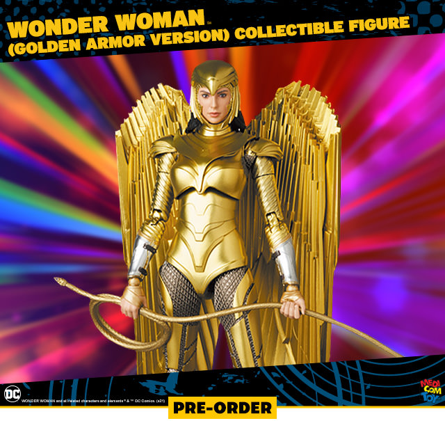 Wonder Woman (Golden Armor Version) Collectible Figure (Medicom Toy)