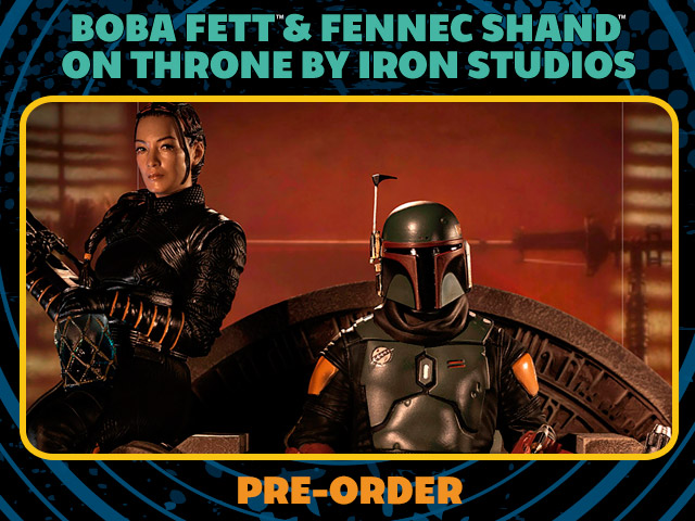 Boba Fett & Fennec Shand on Throne Deluxe 1:10 Scale Statue by Iron Studios