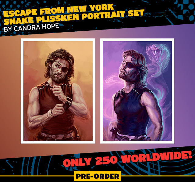 Escape From New York – Snake Plissken Portrait Set by Candra Hope