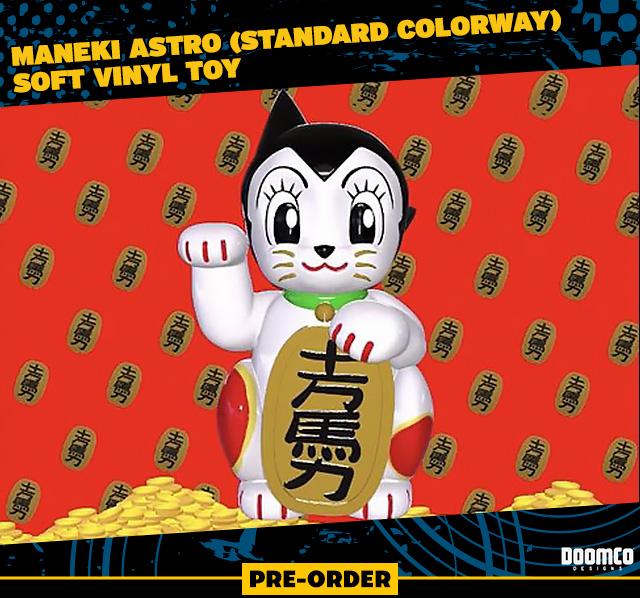 Maneki Astro (Standard Colorway) Soft Vinyl Toy by DoomCo Designs