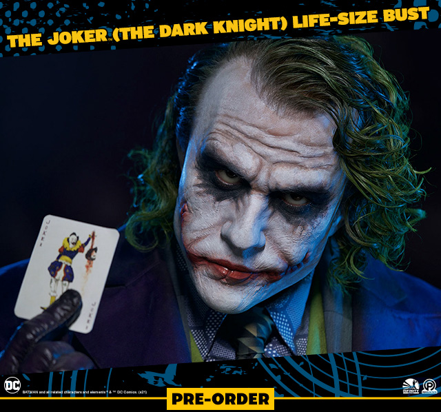 The Joker (The Dark Knight) Life-Size Bust by Infinity Studio X Penguin Toys