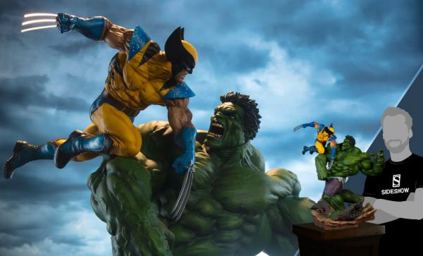 Hulk and Wolverine Maquette