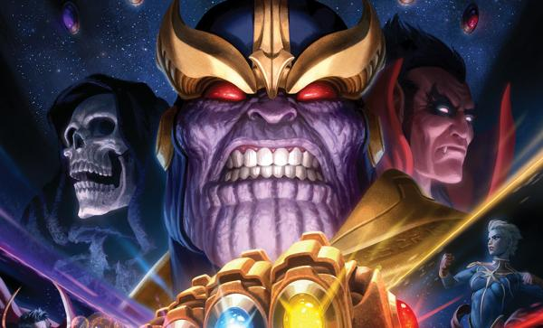 Thanos & Infinity Gauntlet Art Print