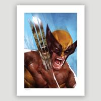 The Incredible Hulk vs Wolverine Fine Art Print