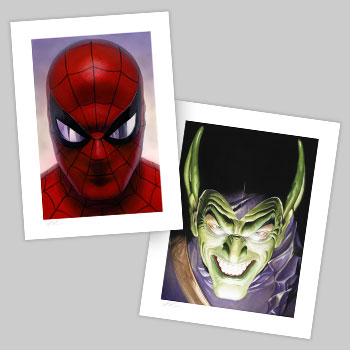 Spider-Man: Portraits of Heroism & Green Goblin: Portraits of Villainy Set Collectible