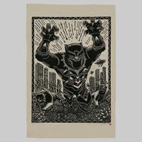 Black Panther Linocut Fine Art Print Giveaway