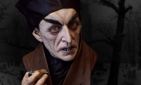 Classic Painted Nosferatu Life-Size Bust