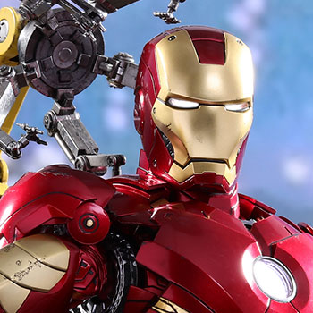 Hot Toys Iron Man Mark IV with Suit-Up Gantry Collectible